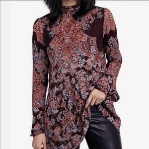 FREE PEOPLE Lady Luck Boho Tunic Top Mini Dress M